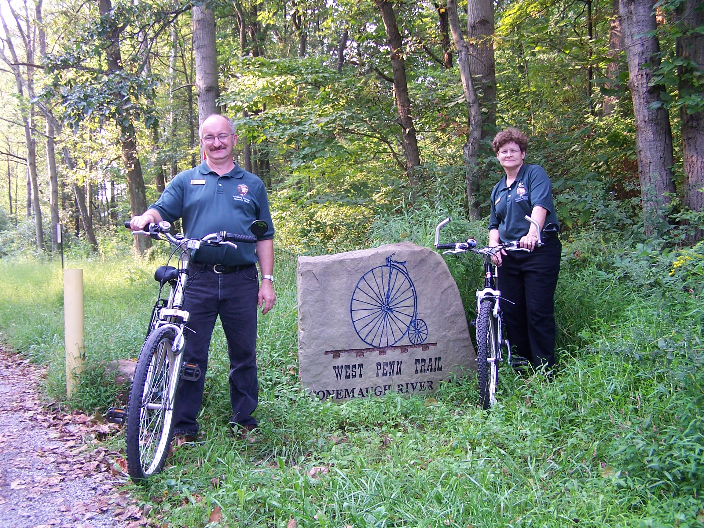 Park volunteers on bicycle tour.