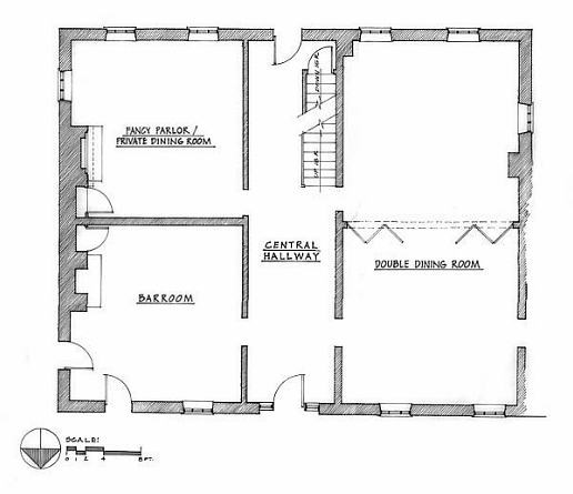 Floor Plan of Lemon House, public areas