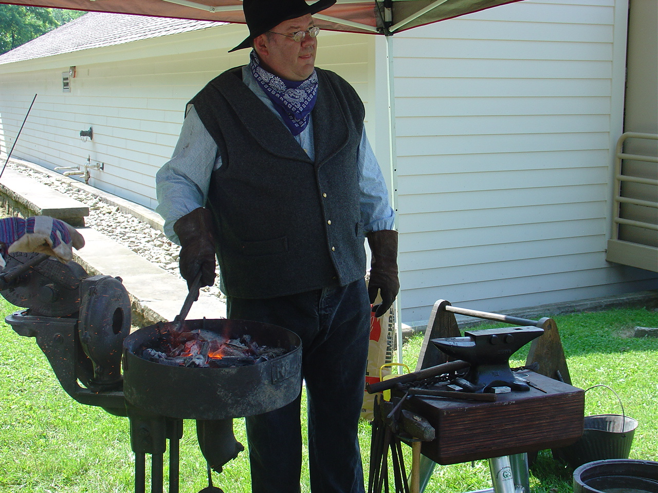 Blacksmith Paul from Greenwood Furnace State Park