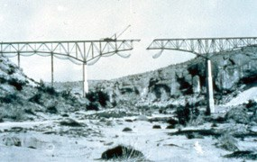 Pecos Viaduct near completion.