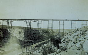 The completed Pecos Viaduct of 1892