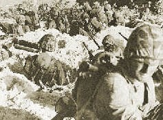 Marines dig in on the beachhead at Saipan