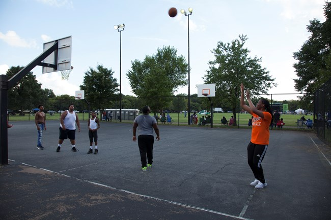 Basketball in Anacostia Park
