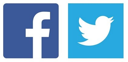 Facebook Logo and Twitter Logo
