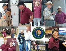 Collage of volunteer photographs
