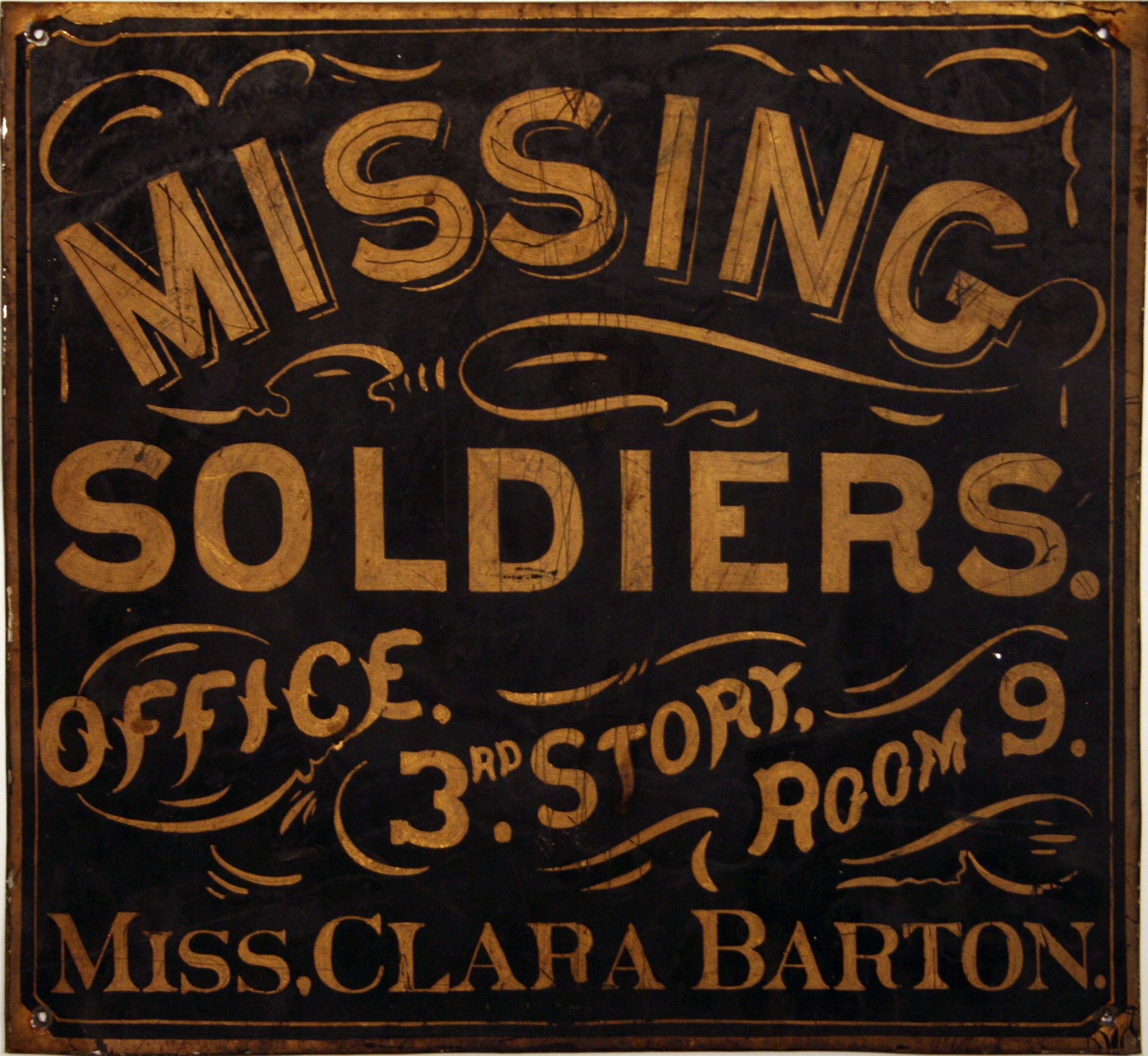 Sign for Office of Missing Soldiers