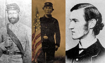 Historic photographs of Captain Henry Wirz, a Union POW, and Dorrance Atwater