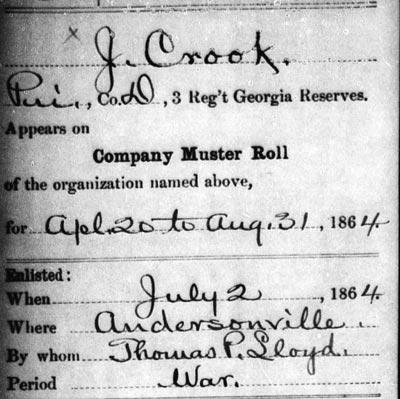 Documenting Prisoners of War held at Andersonville