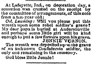 Image of an 1868 newspaper article