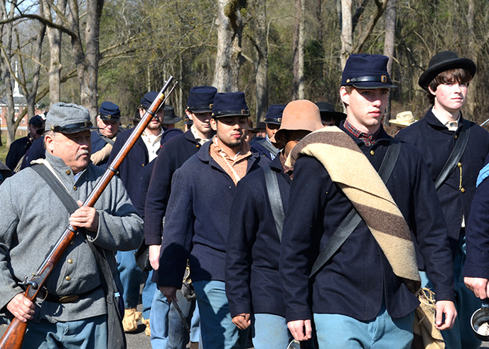 HIAP participants at Living History Weekend