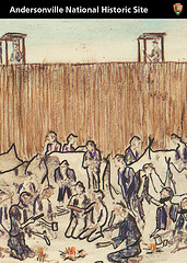 Card image: Andersonville Stockade