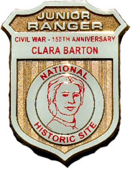 Junior ranger badge for Clara Barton