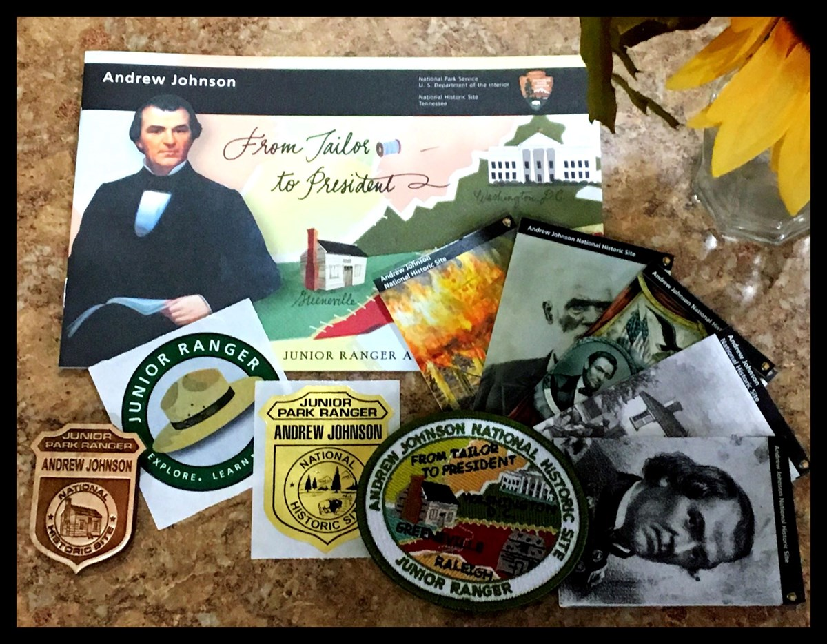 A collage of items available to Junior Ranger s