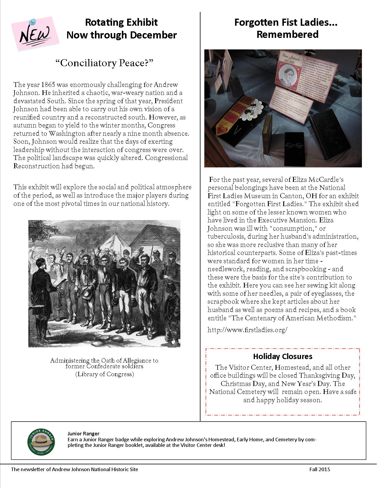 NEWSLETTER FALL 2015 (2)