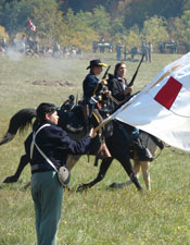 Blue Springs battle reenactment