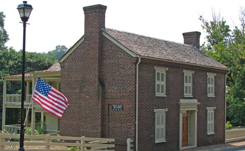 Homestead with flag
