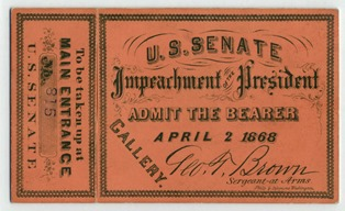 Impeachment ticket and stub