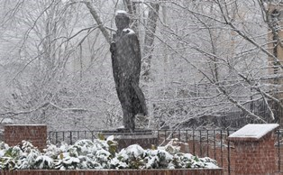 Snowy Andrew Johnson Statue