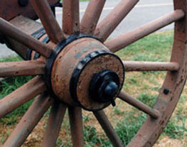 rusted cannon carriage