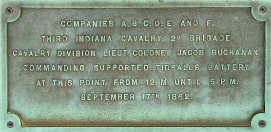 3rd Indiana Cavalry Monument Plaque