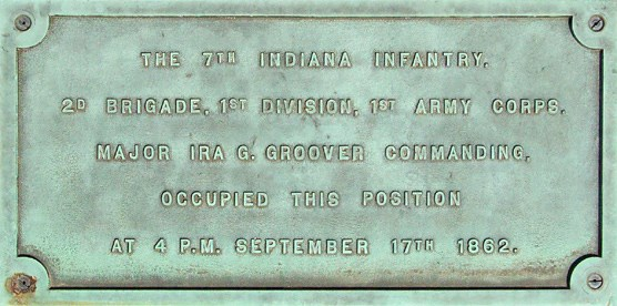 7th Indiana Volunteer Infantry Monument Plaque