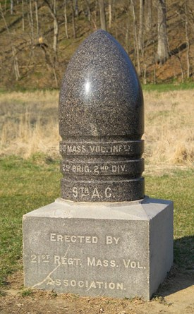 21st Massachusetts Infantry Monument
