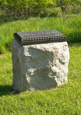 13th New Jersey Volunteer Infantry Monument position 3