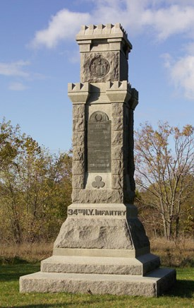 34th New York Infantry Monument