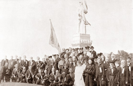 Dedication of the 125th PA Monument