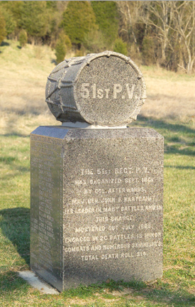 51st Pennsylvania Volunteer Infantry Monument