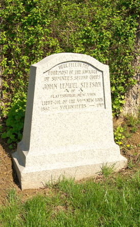 Monument to Lt Col John L. Stetson