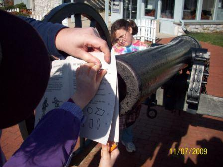 Junior Ranger measuring cannon