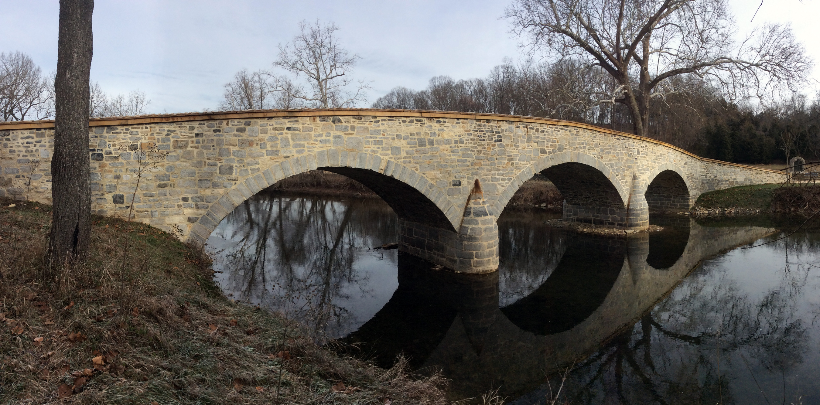 Photograph of the historic Burnside Bridge