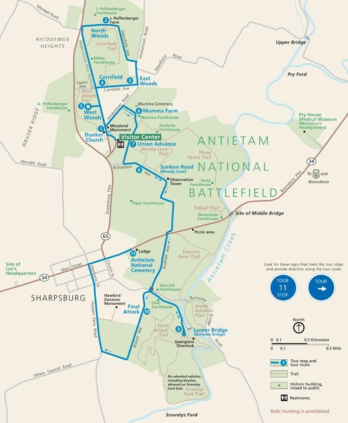 Virtual Tour Antietam National Battlefield US National Park - Antietam on us map