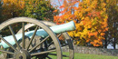 Cannon with fall colors