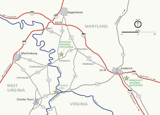 Hagerstown Md Zip Code Map.Directions Antietam National Battlefield U S National Park Service