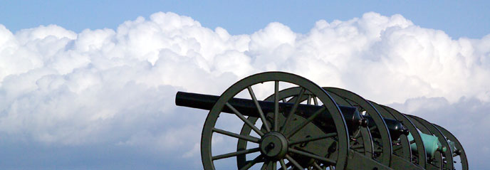 Cannons and clouds at Antietam National Battlefield