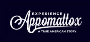 logo for Experience Appomattox with white writing on a black background.