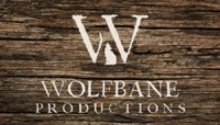 "Wolfbane Productions logo which contains a capital W, a wolf and the words ""Wolfbane Productions."