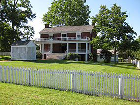 The McLean House at Appomattox Court House.
