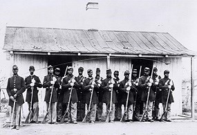 Black Troops serving Federal forces during the Appomattox Campaign