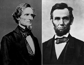 Jefferson Davis and Abraham Lincoln were both born in Kentucky and in February 1861, both prepared to preside over nations at war.