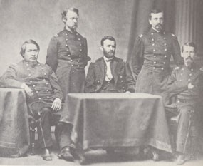 Grant and his staff, ca. January 1865.