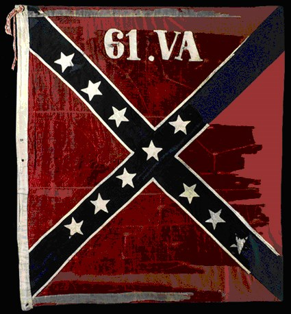 Battle flag of 61st Virginia Infantry.