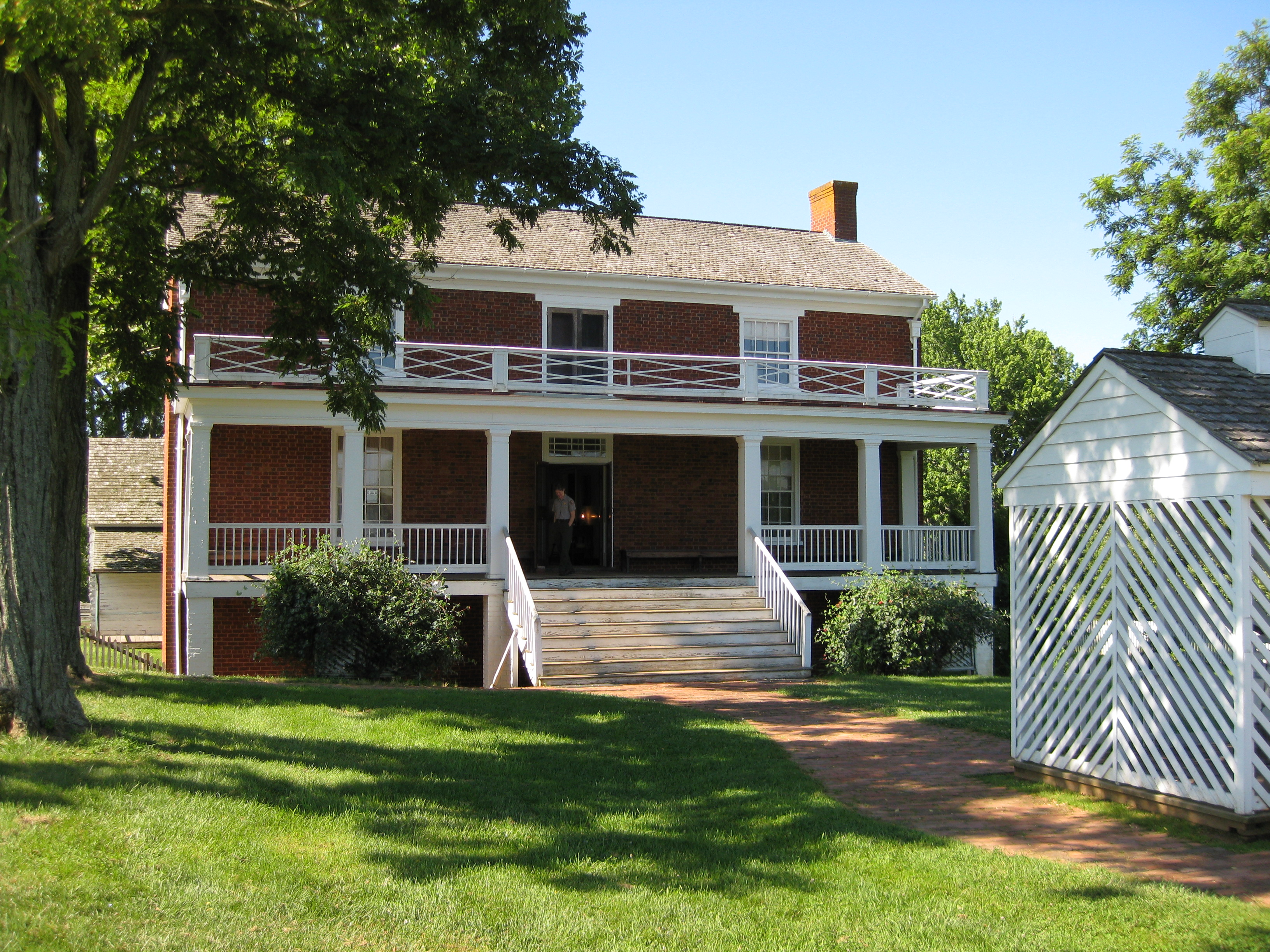Historic Structures At Appomattox Court House Appomattox Court - Appomattox court house us map