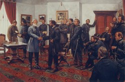This Keith Rocco painting shows all the men that were known to be in the room during at least part of the meeting.