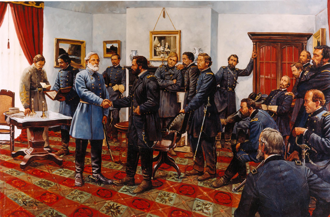 """The Surrender"" by Keith Rocco - Appomattox Court House"