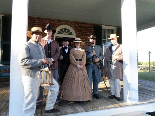 Living Historians on porch