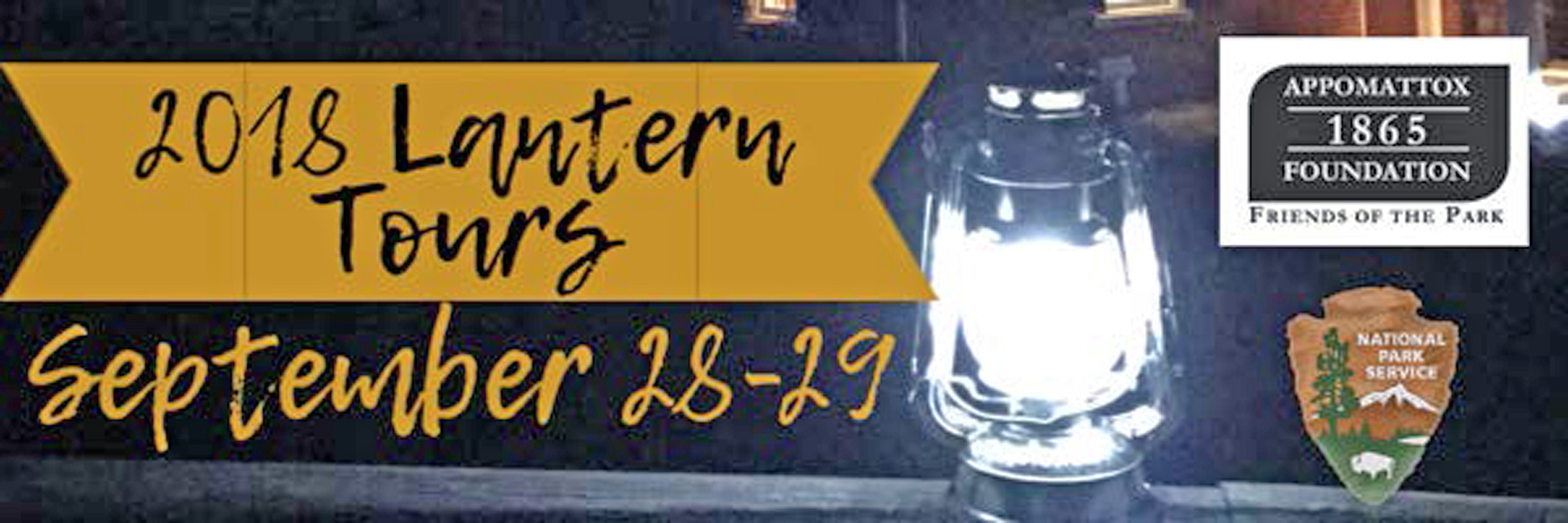 Picture of 2018 Lantern tour flyer with dates and a lantern