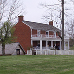 The McLean House was the site of the surrender meeting between Generals Lee and Grant.